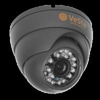 Антивандальная AHD видеокамера Vesta VC-2444 М106, f=3.6, Титан, IR