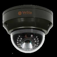 Антивандальная IP видеокамера Vesta VC-3421V М117, f=2.8-12, Белый, IR, PoE