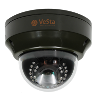 Антивандальная IP видеокамера Vesta VC-5400 М117, f=3,6, Белый, IR