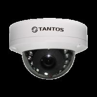 Купольная уличная камера с функцией день/ночь и ИК подсветкой Tantos TSi-De25FP (2.8)