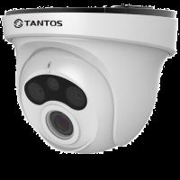 Купольная уличная камера с функцией день/ночь и ИК подсветкой Tantos TSi-EB221F (3.6)