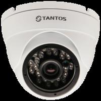 Купольная уличная камера с функцией день/ночь и ИК подсветкой Tantos TSi-EBe24F (3.6)