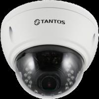 Купольная уличная камера с функцией день/ночь и ИК подсветкой Tantos TSi-Ve4VP (2.8-12)